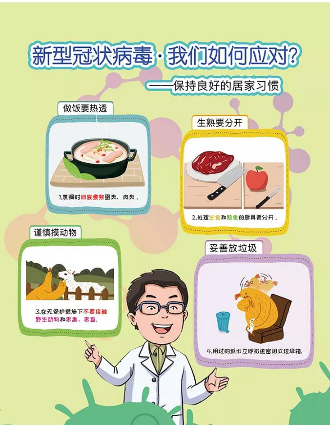 保持良好生活习惯,预防新型冠状病毒